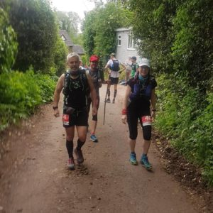 Rob Bircher and Laura Kearney at the Chester 100-mile trail ultra