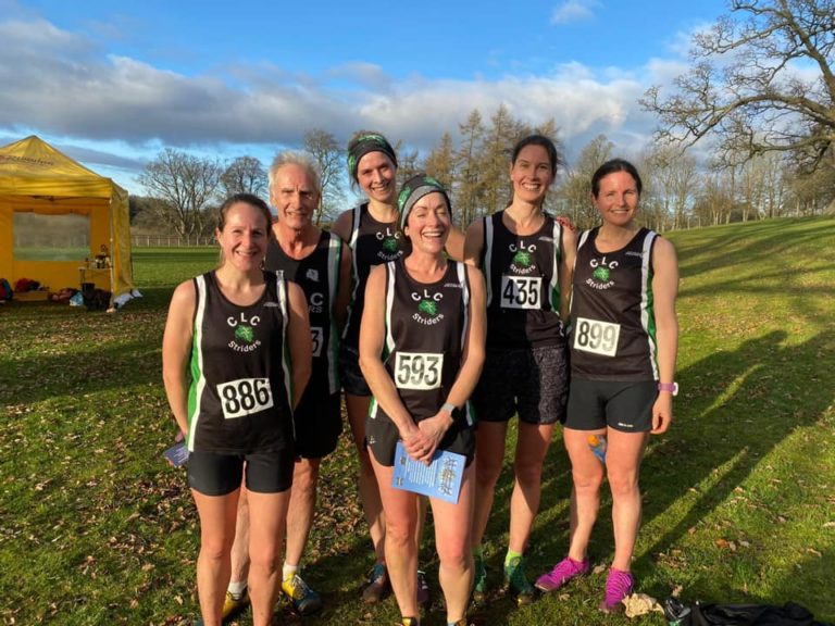 CLC Striders at Rendcomb School for the Gloucestershire Cross Country Championships