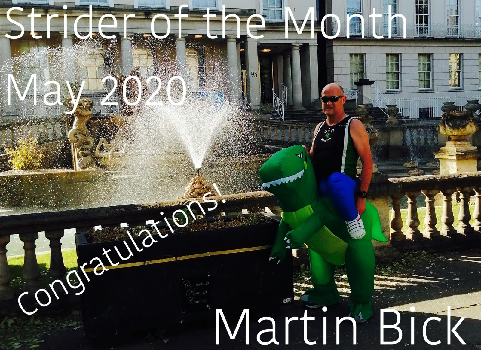 Strider of the month Martin Bick