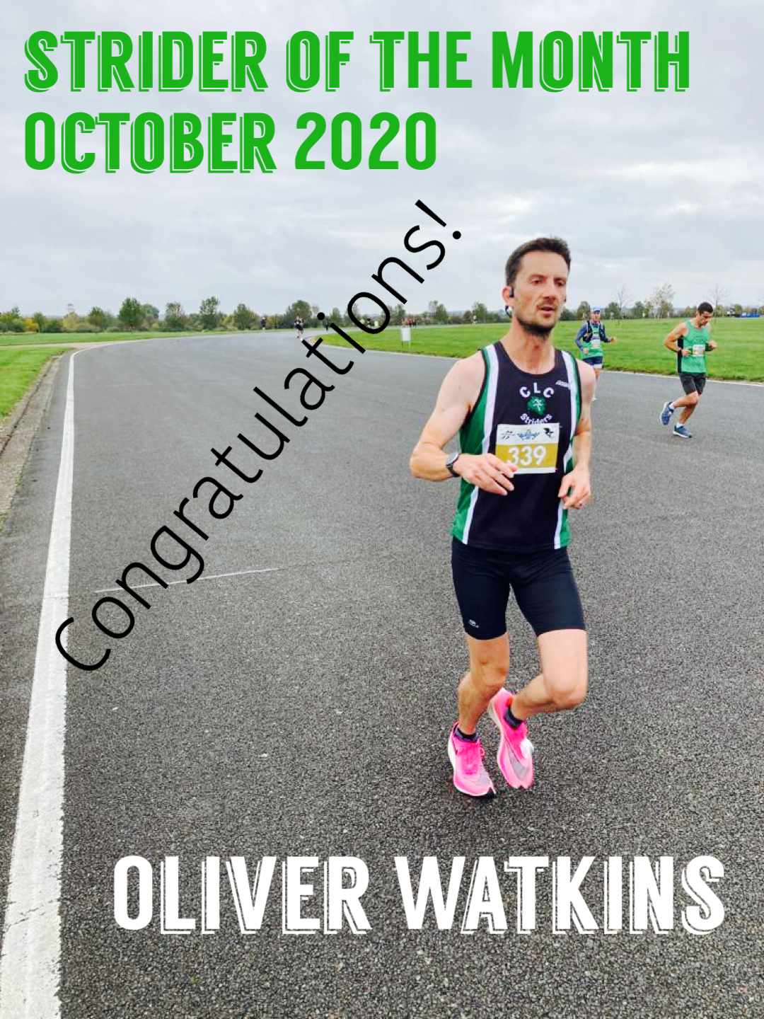 Strider of the month Oliver Watkins